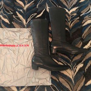 Prada Leather Boots *soles require TLC*